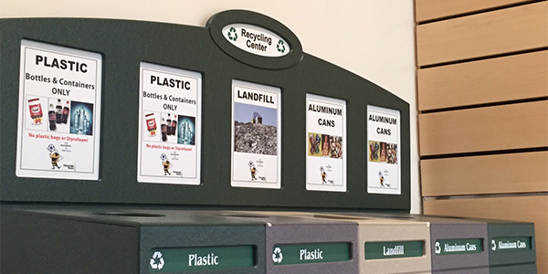 Image of Georgia Tech recycling stations